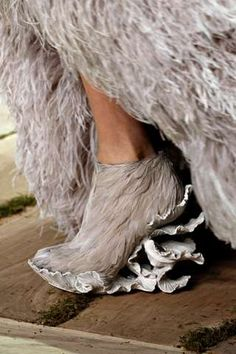 Alexander McQueen feather shoes