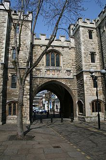 The medieval priory of St. John was once home to the Knights Hospitallers, who sent men and money along the pilgrim routes of Europe, a team of nurses trained to aid the troops injured in the Crusades. The buildings were demolished during the reign of Henry VIII, and all that remains today is St. John's Gate and the Norman crypt. The gate was originally built in 1504 and heavily restored in the 1800s when it served as the Old Jerusalem Tavern.