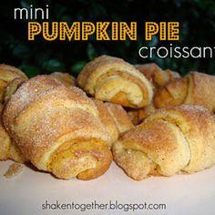 Mini pumpkin pie croissants