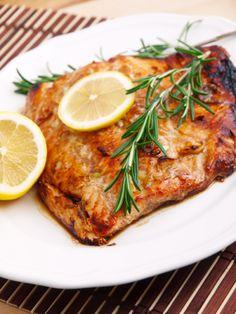 So good! 3 tbsp pure maple syrup    2 tbsp balsamic vinegar    1 tbsp lemon juice    2 tbsp olive oil    2 tbsp fresh rosemary    4-5oz skinless salmon fillets    Sea salt & black pepper to taste