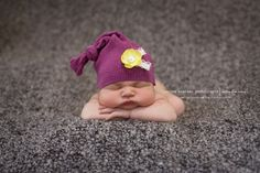 This hat and a few other baby photo props were made out of an Upcycled sweater. :)