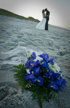 Military beach wedding