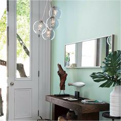 Cool mint wall color