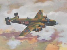 Handley Page Halifax Painting.