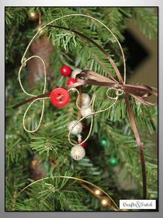 JOY wire words ornament