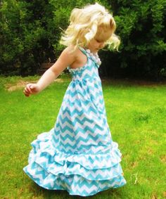 children girl princess long maxi dresses,adorable cotton chevron dress for summer kids girl 2013-in Dresses from Apparel & Accessories on Aliexpress.com
