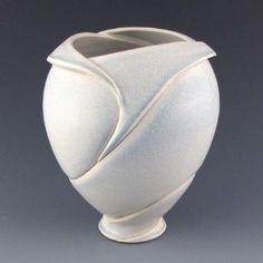 clay, handmade pottery, fold vase, ceram vase, potteri life