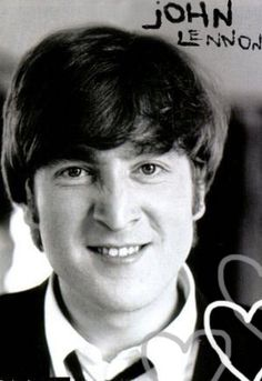 John Lennon.  He looks like he's up to no good.