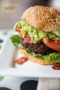 Guacamole Bacon Burger | Tried and Tasty