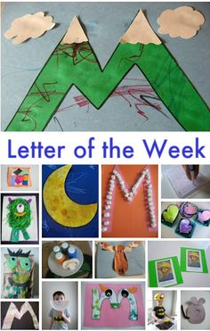 Letter Of The Week – M Theme @angela Gilbert check out the cute little monster craft.