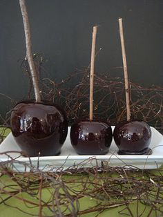 Candy apples. poison apples for halloween