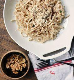 #Recipe: Linguine with Walnut Pesto