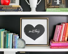 Love in All Things Canvas #lindsaylettersshop