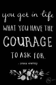 charming life pattern: oprah winfrey - quote - you get in life what you h...
