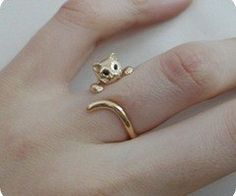 i want one!! wonder if they have silver... crazy cats, kitty cats, fashion, kitten, silver, wedding rings, white gold, crazy cat lady, cat lovers