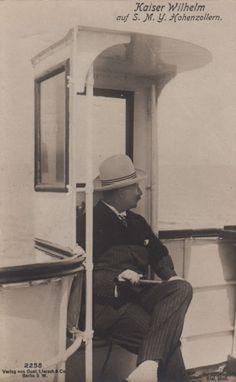 Kaiser wilhelm ii aboard the hohenzollern corfu 1908 more