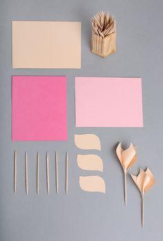 DIY: paper tulips #DIY #craft #paper