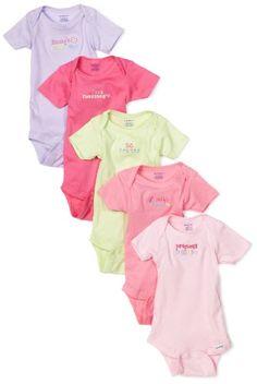 Gerber Baby-girls Newborn 5 Pack Fashion Onesie, « Clothing Impulse