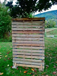Pallet Wall Store Display by Sean Curran.