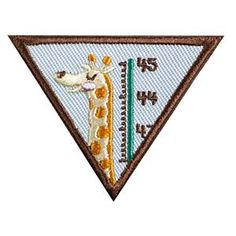 Girl Scout Brownie My Best Self Badge. Check out the requirements in The Girl's Guide to Girl Scouting. Girl Scout badges only $1.50.
