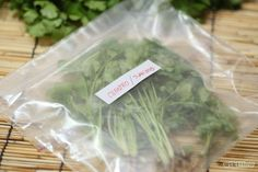 How to Freeze Cilantro Clean and dry thoroughly, Chop into smaller pieces if you like press out all air, double bag