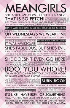 Mean Girls quotes.. yeses