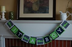 Alligator It's A Boy Banner Baby Shower Banner by GiggleBees, $14.00