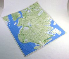 Brooklyn map baby quilt