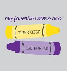 LSU shirt for kids and babies - crayons and favorite colors
