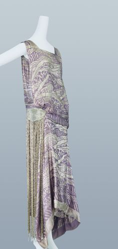 Evening dress, Liberty & Co., c. 1924.