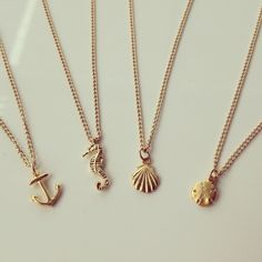 Micro Necklaces | long lost jewelry    *i like the anchor one...