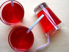 "This is a cute April Fool's day snack!  ""Undrinkable juice"" (aka... jello!)"
