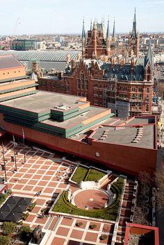 British Library And St. Pancras, Euston Road, London