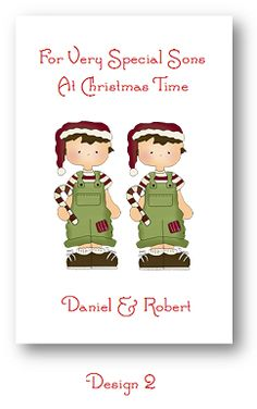 christma card, card 250, greet card, scallop edg, card personalis