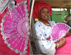 Another Lovely bride!    A Yoruba bride from the western part of Nigeria beautifully adorned in the traditional wedding outfit (called Aso-Oke) for her Traditional Wedding.