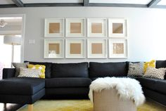 Ribba frames over couch