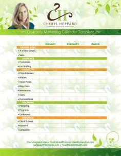 Quarterly Marketing Calendar | Healthy Handout