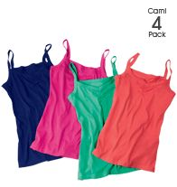 Ruched 4 Pack Camis $19.99. Offer ends 2/25/13