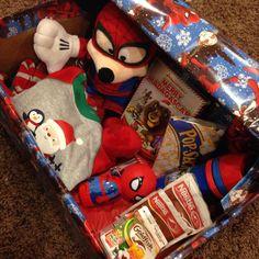 Pinterest inspired Christmas Eve box