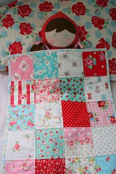 little girls, craft, red riding hood, little red, hoods, baby dolls, doll quilts, christma, kid