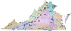 Scenic Drives Map ~ 17 Scenic Drives for VA in the Fall