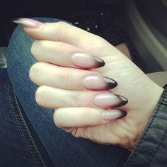 ombre, colorful nails, beauti, stiletto nails, stilettos, nail design, black, nail art, halloween nails