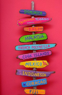 Places to visit. #Mexico #Dominica #Trinidad #Bali #Malaysia #Indonesia #Curacao #Fiji
