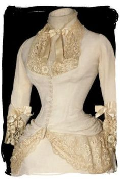 1800's wedding gown