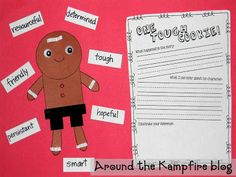 The Gingerbread Man Loose in the School inferring to identify character traits writing activity and craft