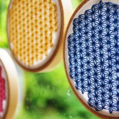 Japanese star pattern cross-stitch!