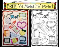 """FREE """"All About Me"""" Poster for Back to School!"""