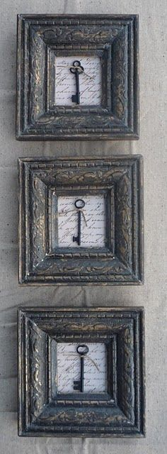 Keys & Locks:  Framed #keys.