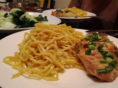 Garlic Noodles with Marinated Chicken Breast