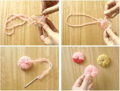 Best Pom Pom Tutorial with templates for shapes like hearts and flowers!